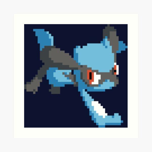 Pokemon Cute Pixel Art Art Prints Redbubble