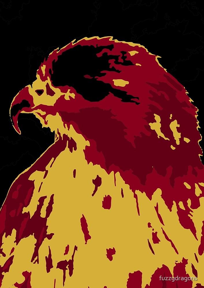 Red Buzzard by fuzzydragons