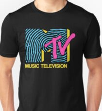 MTV - fingerprint 80s design Slim Fit T-Shirt