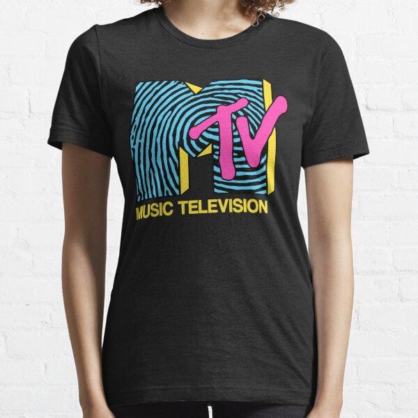 MTV - conception des empreintes digitales des années 80 T-shirt essentiel