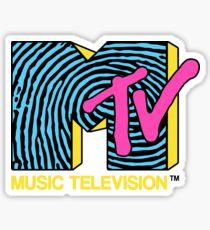MTV - fingerprint 80s design Sticker