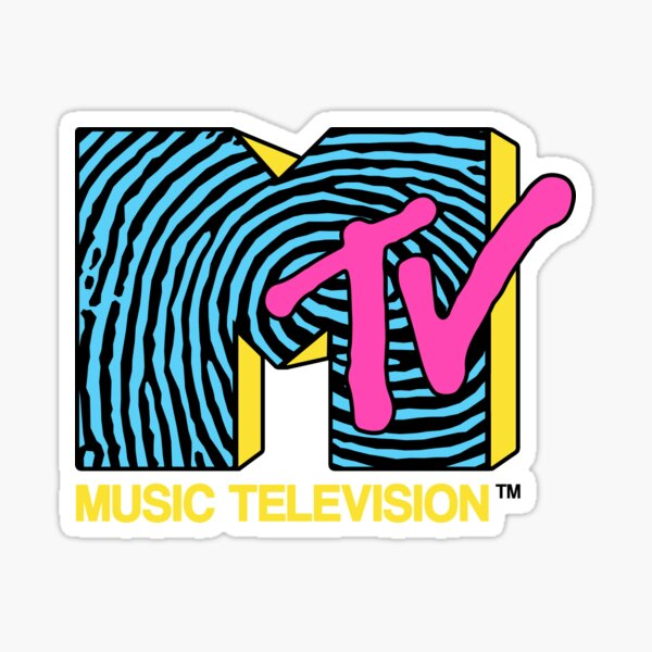 MTV - fingerprint 80s design Sticker
