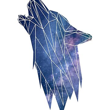 Wolf Low poly Galaxy by fxxu
