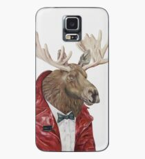 Moose in Leather Case/Skin for Samsung Galaxy