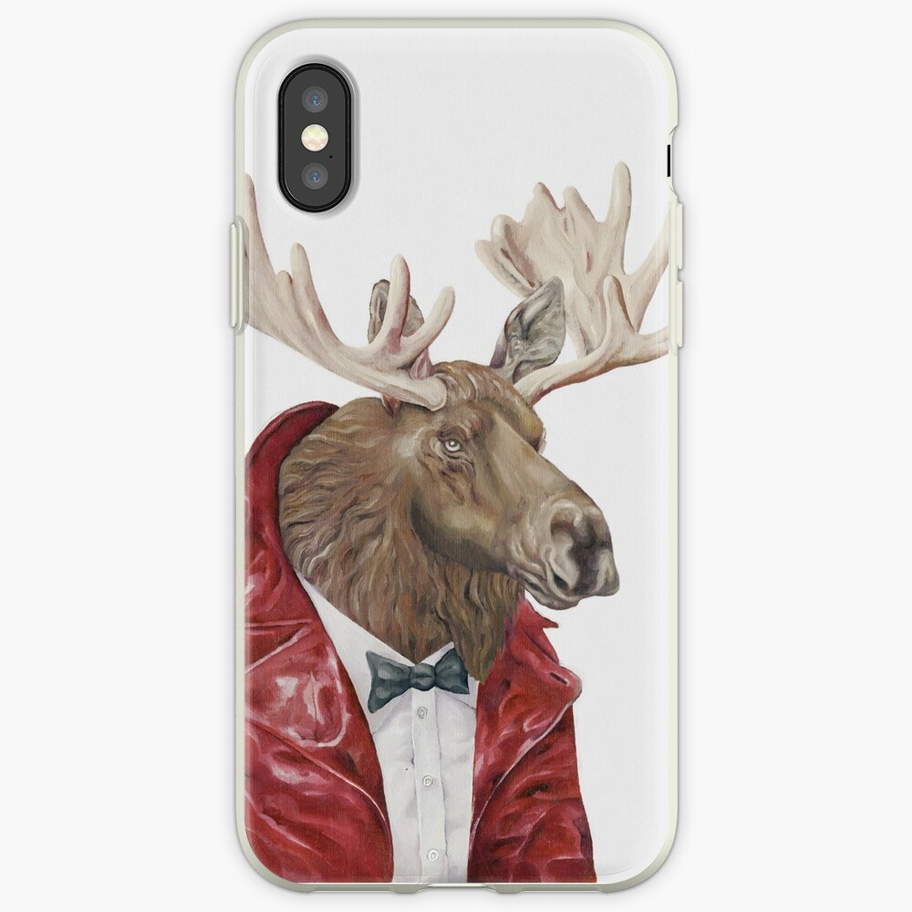 Moose in Leather iPhone Case & Cover