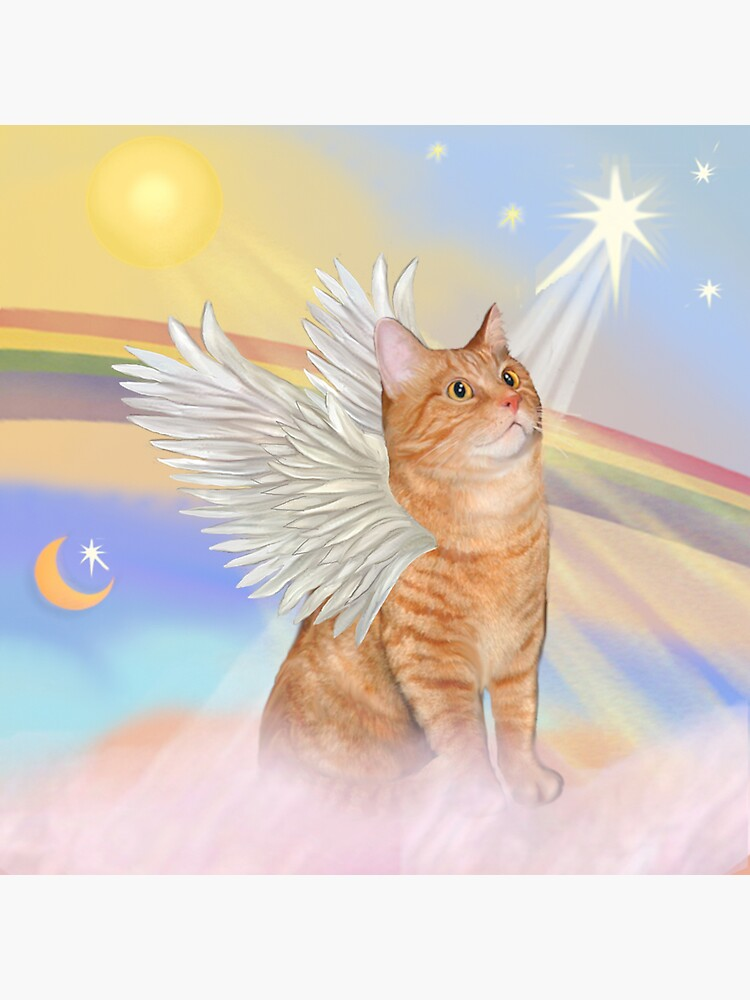 Heavens Clouds - Orange Tabby Cat Angel by JeanBFitzgerald