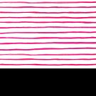 Pattern, pink watercolored lines versus black by ColorsHappiness