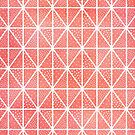 Coral Triangle Dots Pattern by blueskywhimsy