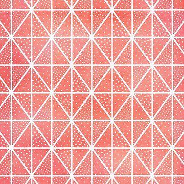 Patrón de puntos triángulo coralino de blueskywhimsy