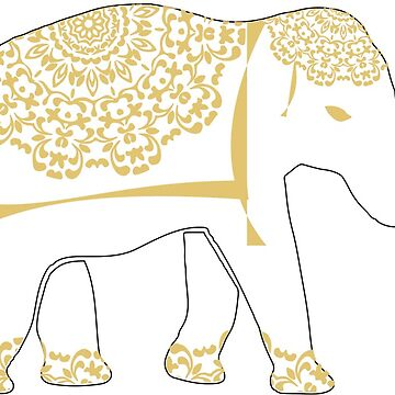 Thai White Elephant Lucky Symbol by Artification