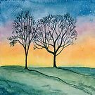 Two Tree Silhouettes #1 by Gillian Cross