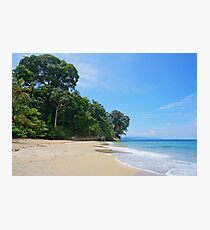 Costa Rica Caribbean beach with lush vegetation Photographic Print