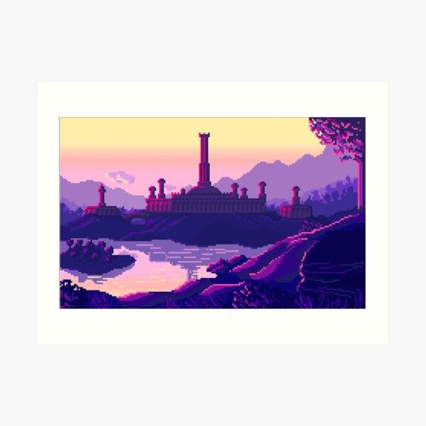 Ciudad imperial al amanecer Lámina artística