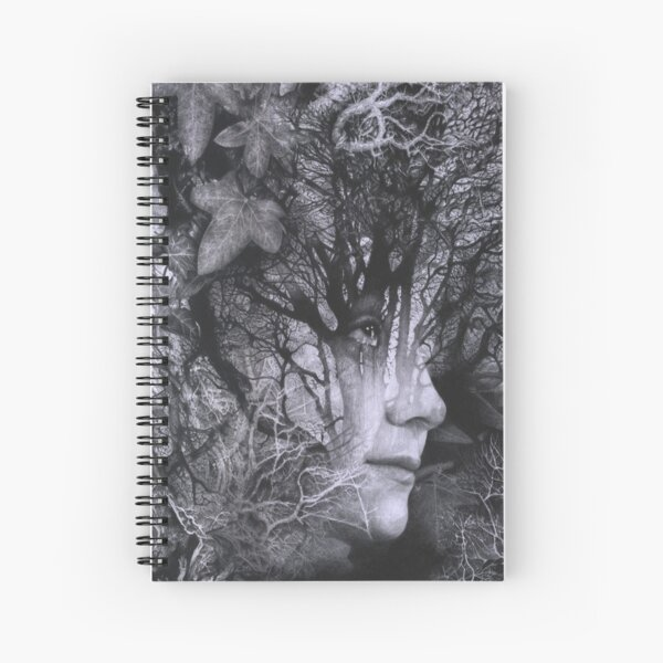 Looking Through - Pencil Art Spiral Notebook