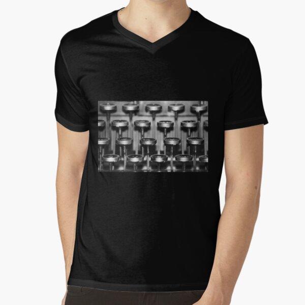 Typewriter Keys V-Neck T-Shirt