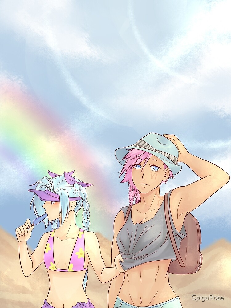 summer Vi and Jinx by SpigaRose