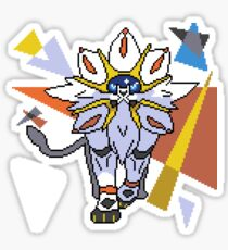 Pokemon Solgaleo Digital Art Stickers Redbubble