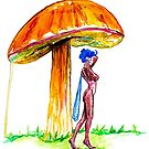 Mushroom Fairy 6  by Beau Singer