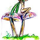 Mushroom Fairy 7  by Beau Singer