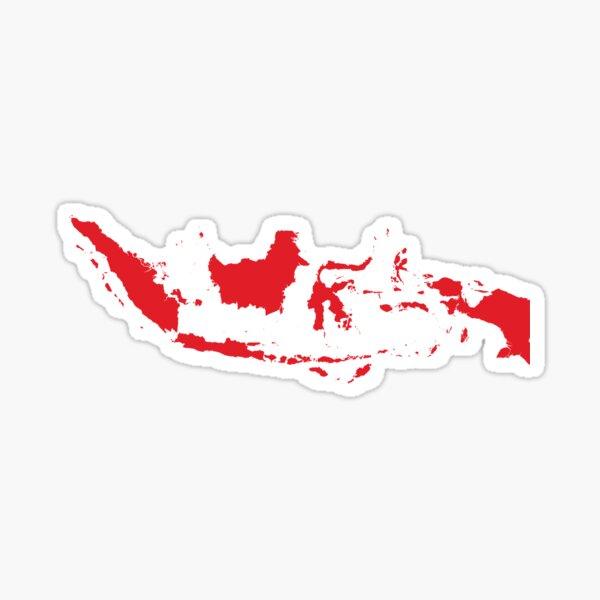 Indonesia Love in Red Sticker