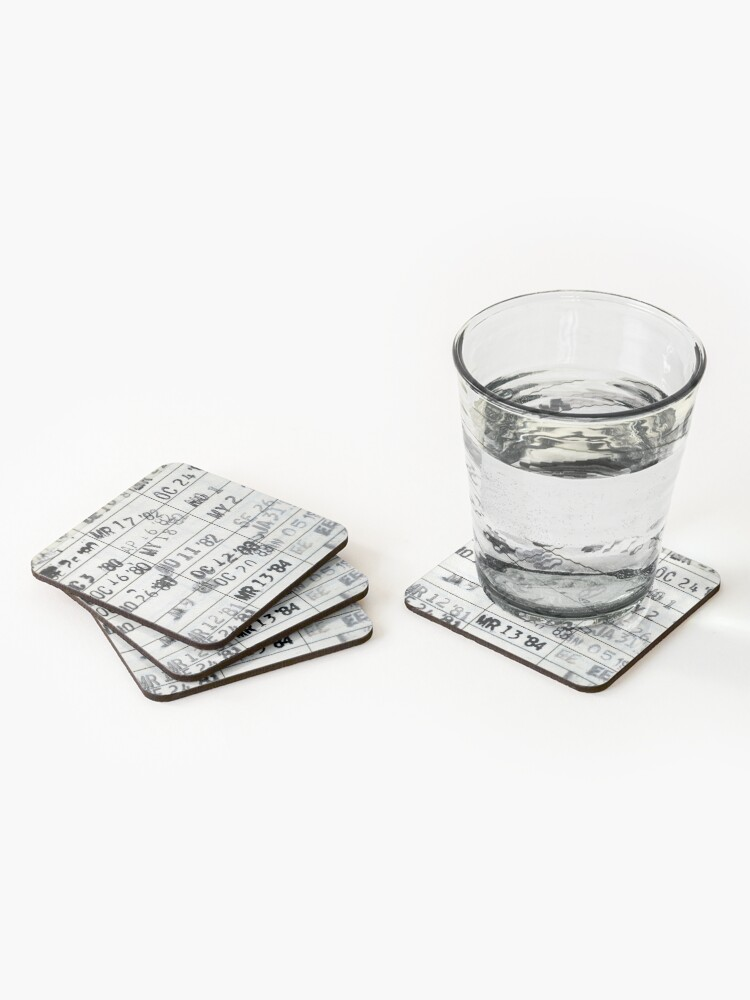 Alternate view of Date Due #1 Coasters (Set of 4)