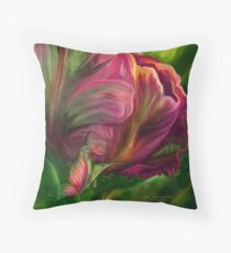 Tulips - Colors Of Paradise 3 Throw Pillow