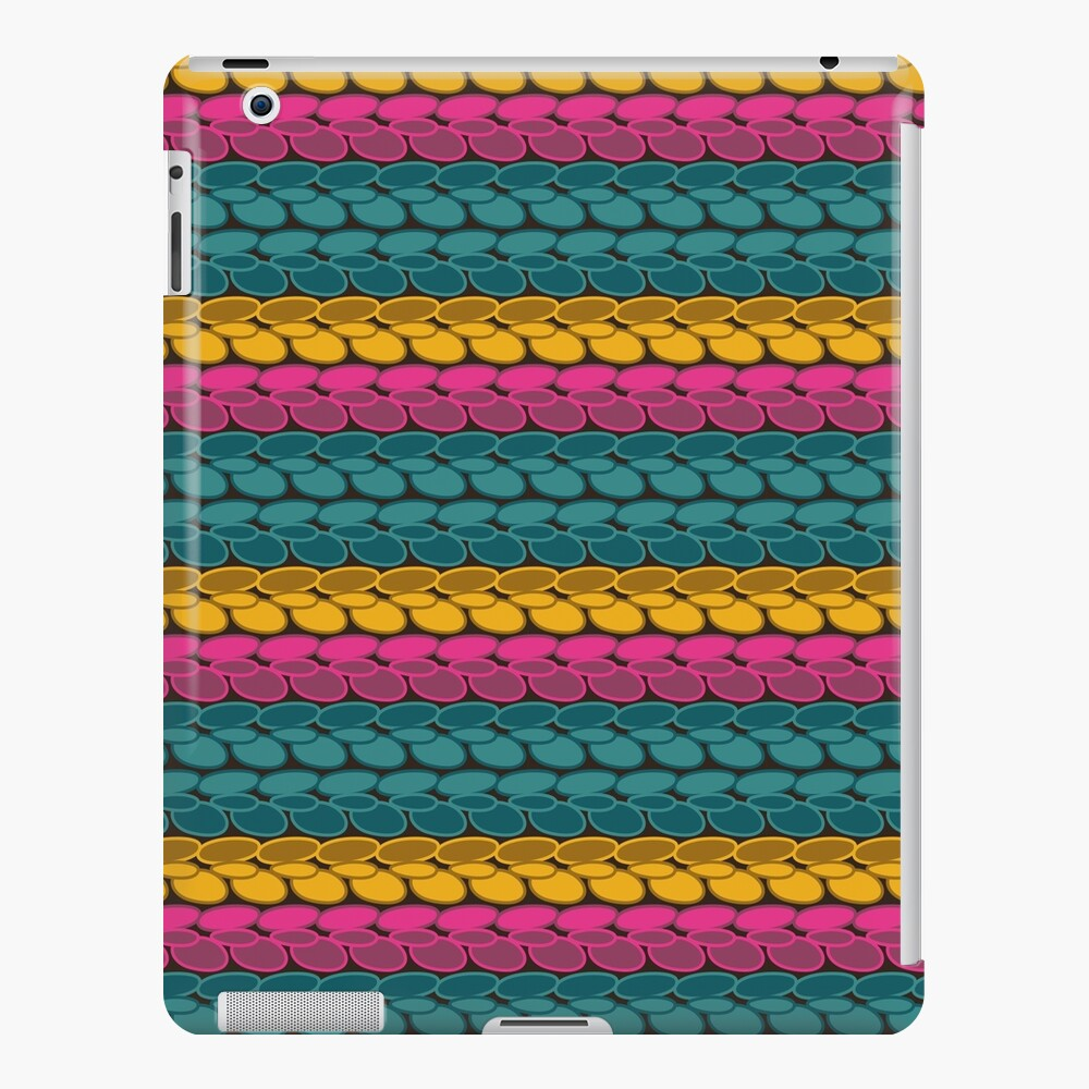 Pseudo crochet pattern with pink and teal iPad Case & Skin