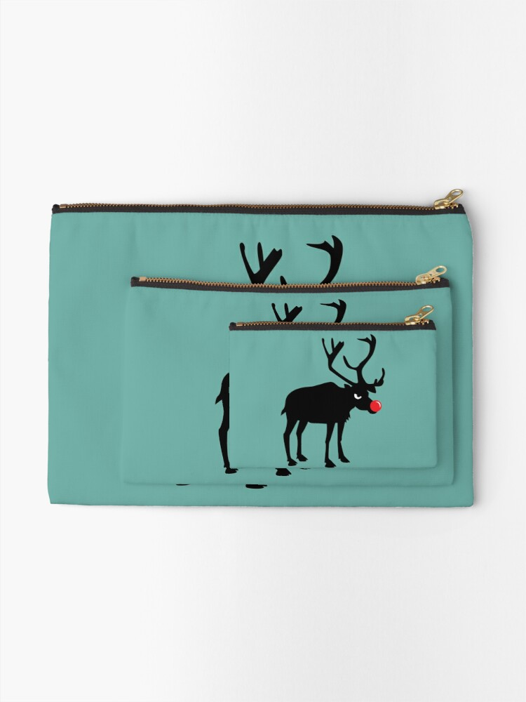 Alternate view of Angry Animals: Rudolph the red nosed Reindeer Zipper Pouch