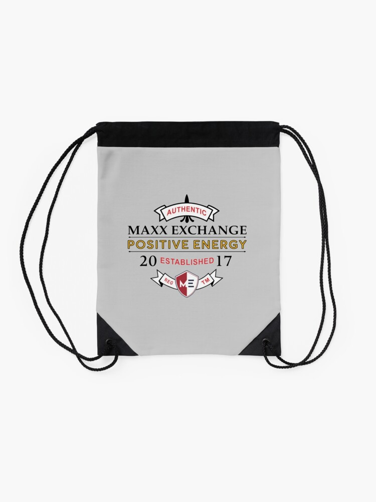 Alternate view of Positive Energy, Positive Lifestyle, Maxx Exchange. Gifts Drawstring Bag