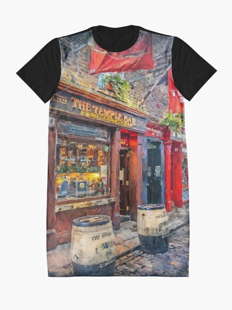 Alternate view of Dublin art #dublin Graphic T-Shirt Dress