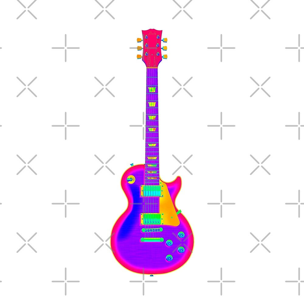 Quot Colorful Electric Guitar Artwork Quot By Bradyarnold Redbubble