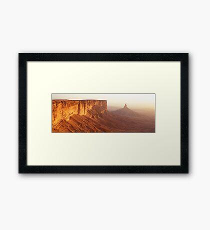 Sunset at Faisal's Finger Framed Print