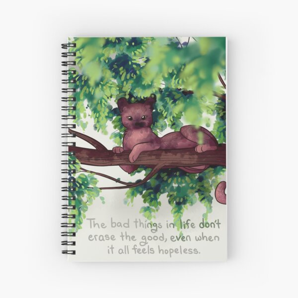 """""""The Bad Things in Life Don't Erase the Good"""" Fossa Spiral Notebook"""