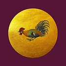 Rooster and rising sun  by MeyrellesMartin