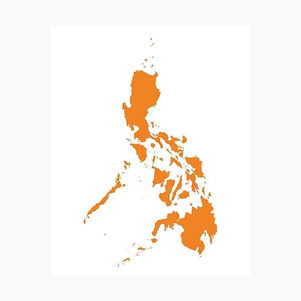 Philippines Love in Orange Photographic Print