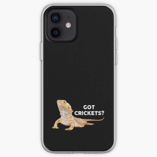 Funny Bearded Dragon, Got Crickets?, Bearded Dragon Lover iPhone Soft Case