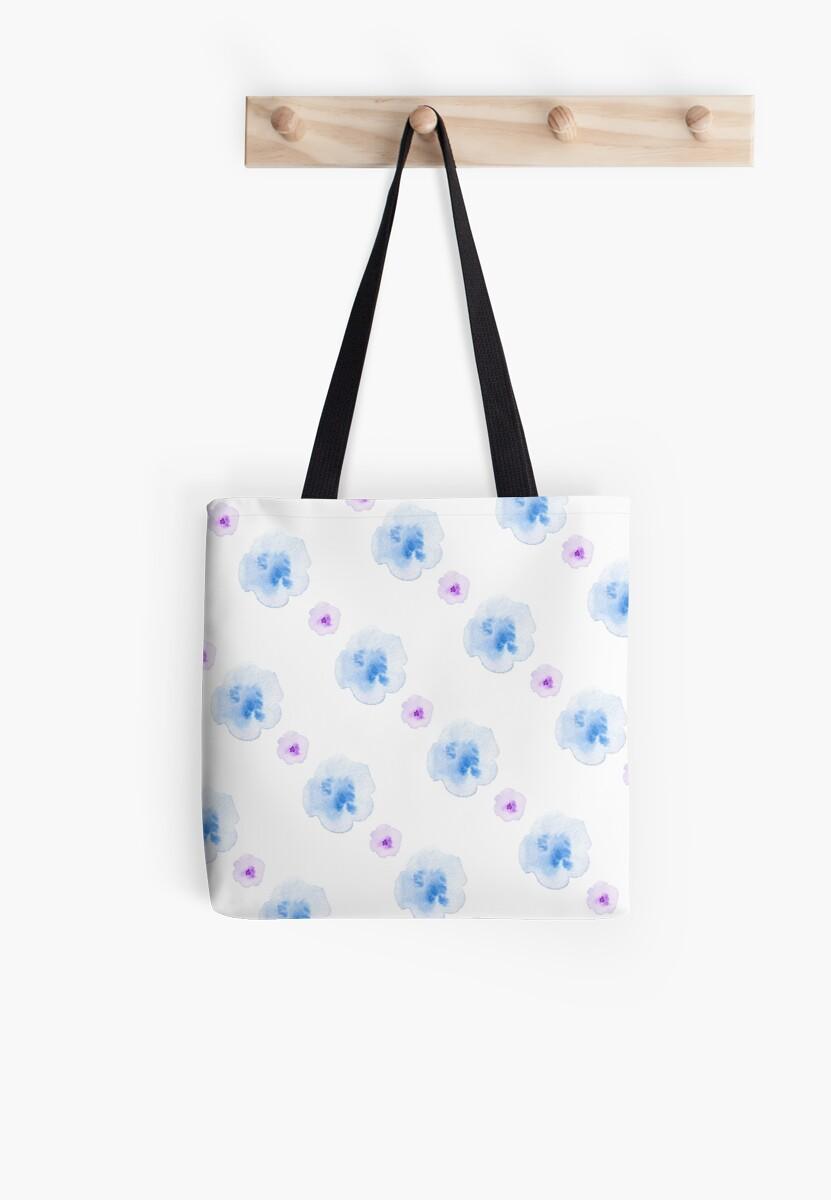 watercolor blue flowers pattern by laskaart