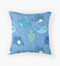 Narwhal Pattern Throw Pillow