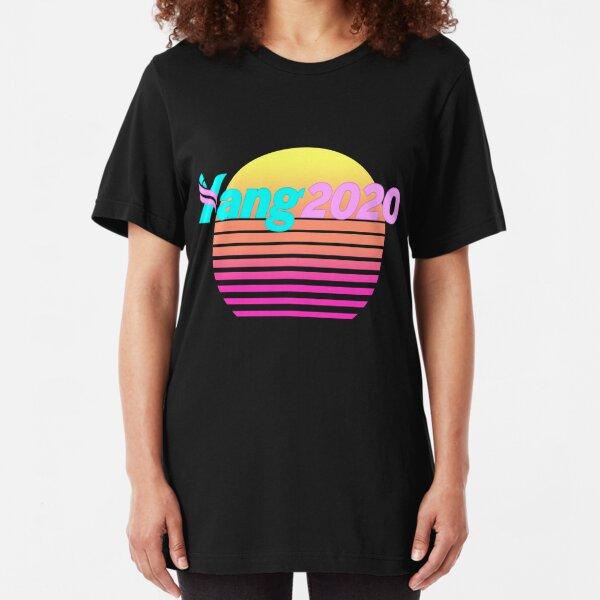 Aesthetic Yang 2020 Vaporwave Slim Fit T-Shirt