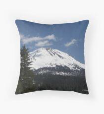 Lassen Peak-Wintery Glory Throw Pillow