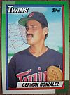 461 - German Gonzalez by Foob's Baseball Cards