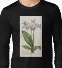 The Botanical magazine, or, Flower garden displayed by William Curtis V1 V2 1787 1789 0028 Dodecatheon Meadia, Mead's Dodecatheon or American Cowslip Long Sleeve T-Shirt