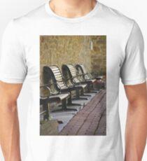 Benches - Chrysler Farm, Morrisburg, Ontario Unisex T-Shirt