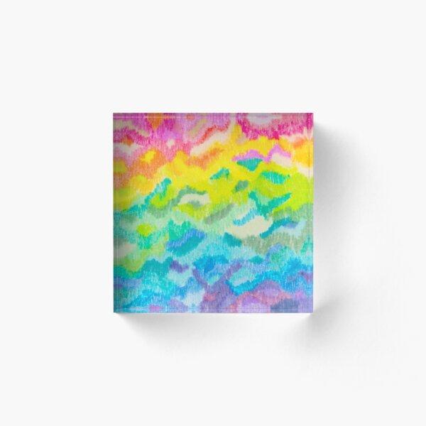 Rainbow-ld Acrylic Block