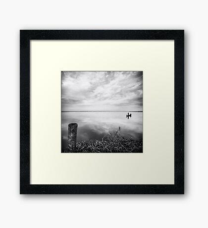 Grassy Glassy Lake Framed Print