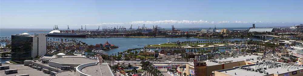 Long Beach California Pano 2005 by Michael  Moss