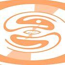 Duality Orange Abstract Interiors Design - Jenny Meehan - jamartlondon.com by Jenny Meehan