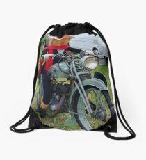 Scarecrow on the Bike Drawstring Bag