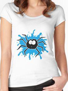 Spider Splat - Blue Women's Fitted Scoop T-Shirt
