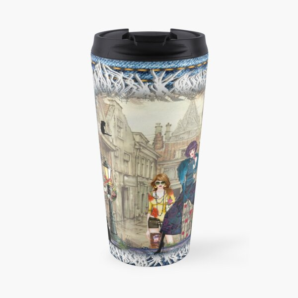 High fashion in front of Anton Pieck's painting. Travel Mug
